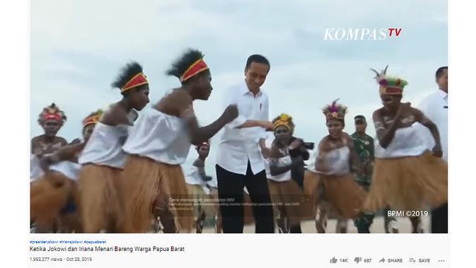Cek Fakta Liputan6.com menelusuri klaim video Jokowi menari lagu nggak mau ganti presiden