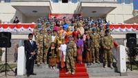 Anak-anak WNI menyambut kedatangan Pasukan Garuda XXVIII-K UNIFIL di KBRI Ankara, Turki (Liputan6.com/KBRI Ankara)