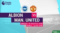 Premier League Brighton and Hove Albion Vs Manchester United (Bola.com/Adreanus Titus)
