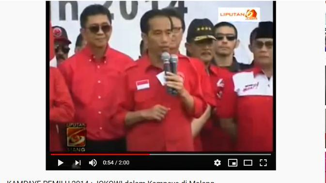 Cek Fakta : Penelusuran klaim foto Presiden Jokowi mengenakan baju merah berlogo PKI