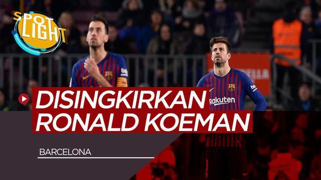 Berita Video Spotlight Gerard Pique, Sergio Busquets dan Pemain Senior Barcelona yang Bisa Disingkirkan Ronald Koeman