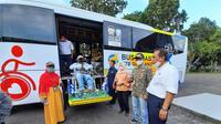 DAMRI Mataram Uji Coba Operasi Bus Disabilitas NTB Gemilang (Dok. DAMRI)