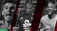 Trivia bintang-bintang baru yang memesona di Liga 1 hingga pekan ke-13 (Bola.com/Adreanus Titus)