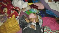 Warga mengungsi setelah gempa mengguncang Lombok. (Biro Pers Kemensos)