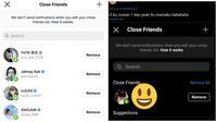 Netizen pamerkan isi kontak close friend di Instagram, nyeleneh sampai kocak. (Sumber: Twitter/