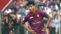 Septian Satria Bagaskara bisa menjadi penerus Bambang Pamungkas di Timnas Indonesia. (Bola.com/Gatot Susetyo)