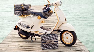 Scooter terbaru dari Vespa yang berkolaborasi dengan Christian Dior.