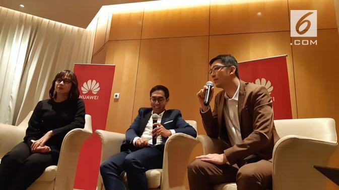 Huawei resmi memperkenalkan Mate 20 series untuk pasar smartphone di Indonesia. Liputan6.com/ Agustin Setyo Wardani