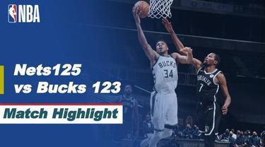 Berita video highlights NBA 2020/2021 antara Brooklyn Nets melawan Milwaukee Bucks yang berakhir dengan skor 125-123, Selasa (19/1/2021) pagi hari WIB, di mana torehan James Harden dan Kevin Durant mengesankan.