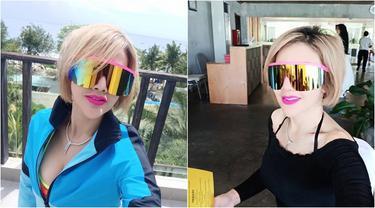 7 Momen Liburan Barbie Kumalasari di Bali, Kacamata Besarnya Curi Perhatian