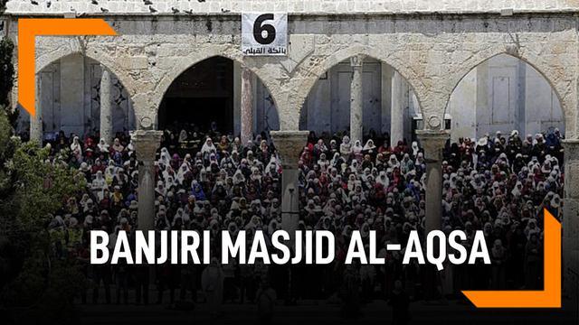 180 Ribu Muslim Banjiri Masjid Al-Aqsa