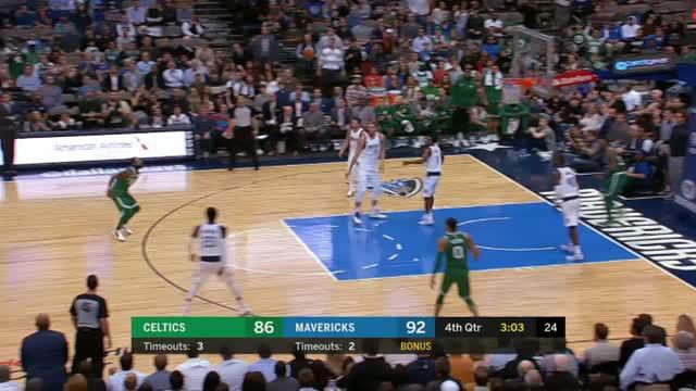 Boston Celtics mengalahkan Dallas Mavericks dengan skor 110-102 dalam lanjutan pertandingan NBA 2017-2018.