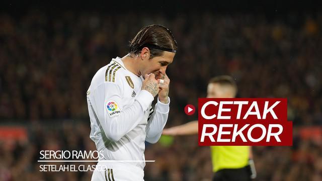 Berita video bek Real Madrid, Sergio Ramos, mencetak rekor setelah melakoni laga El Clasico melawan Barcelona yang berakhir dengan skor 0-0, Rabu (18/12/2019).