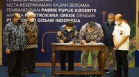 PT Petrokimia Gresik, melakukan kajian pembangunan pabrik pupuk Kieserite bersama dengan PT Polowijo Gosari Indonesia (dok: Humas)