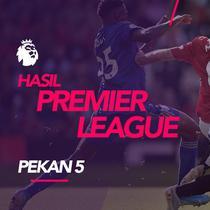 Berita video hasil Premier League 2019-2020 pekan ke-5. Manchester united menang tipis 1-0 atas Leicester United, Arsenal ditahan Watford 2-2.