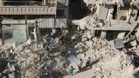 Serangan udara di Aleppo, Suriah, menyebabkan kehancuran parah dan jatuhnya korban jiwa (Reuters)