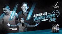 Rexona Men Soccer Stars Challenge episode pertama mempertemukan antara Irfan Bachdim melawan Andritany Ardhiyasa.