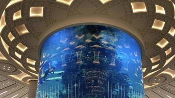 FOTO: Melihat Akuarium Raksasa di Bandara King Abdulaziz Dibersihkan