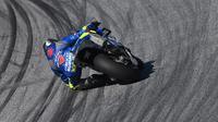 Pembalap Suzuki, Joan Mir menjadi yang tercepat di FP3 MotoGP Styria (AFP)