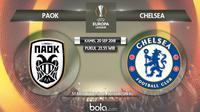 Jadwal Liga Europa 2018-2019, PAOK vs Chelsea. (Bola.com/Dody Iryawan)