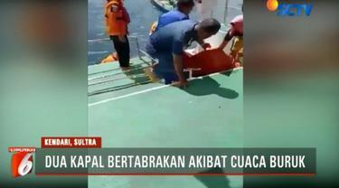 Peristiwa ini terjadi di Perairan Selat Pulau Wawonii, Kabupaten Konaw, Kepulauan Sulawesi Tenggara Sabtu siang akibat cuaca buruk.