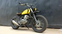 Yamaha Scorpio Scrambler garapan bengkel Street Arts Custom yang dibeli oleh Menaker Hanif melalui tangan kedua (Street Arts)