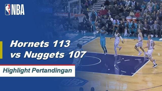 Kemba Walker mencetak 21 poin dan Tony Parker mencetak 19 poin dari bangku cadangan ketika Charlotte Hornets mengalahkan Denver Nuggets 113-107.