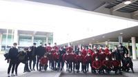 Timnas Indonesia U-19 tiba di Spanyol. (PSSI).