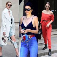 Penampilan super model Gigi, Bella Hadid dan Kendall Jenner