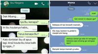 Chat kocak antara ibu dan anak ini bikin ngakak (Sumber: Instagram/dagelan/awreceh.id)