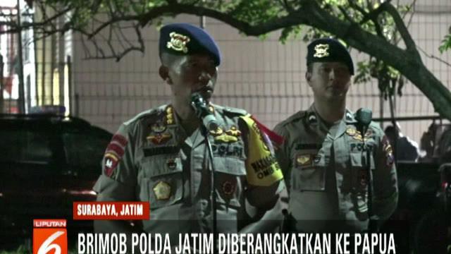 Seluruh personel akan bergabung bersama pasukan TNI-Polri yang telah siaga di Papua. Turut serta dalam rombongan ini pasukan Gegana untuk mengantisipasi ancaman bom.