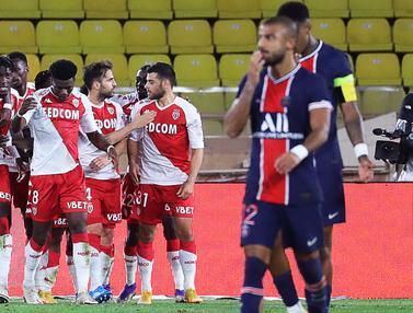 Diwarnai Kartu Merah, PSG Kalah di Markas AS Monaco