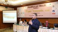 Usai mendapatkan pembekalan dari KPK, kali ini finalis Puteri Indonesia 2018 mengunjungi Kementerian Pariwisata. (Bintang.com/Daniel Kampua)