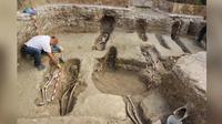 Para arkeolog memperkirakan hingga 4.500 jenazah mungkin telah dikubur di pekuburan kuno di Tauste selama 400 tahun berjalannya pemerintahan Muslim. (Gambar: © Asosiasi Budaya El Patiaz)