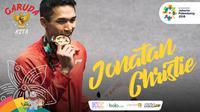 Garuda Kita Asian Games Jonatan Christie (Bola.com/Grafis: Adreanus Titus /Foto: Peksi Cahyo)
