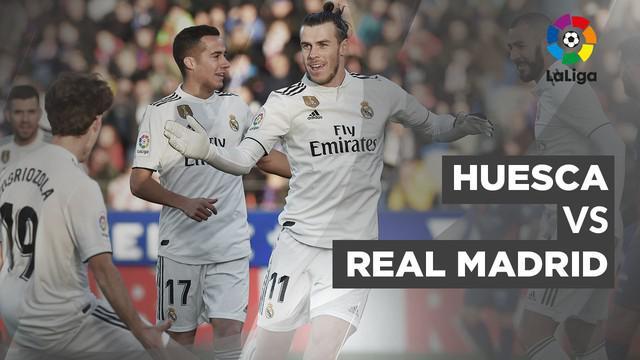 Berita video statistik pertandingan Real Madrid meraih kemenangan 1-0 atas Huesca pada lanjutan pekan ke-15 La Liga Spanyol, di Stadion El Alcoraz, Huesca, Minggu (9/12/2018). Gol kemenangan El Real dicetak Gareth Bale.