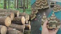 Seniman ini ubah balok kayu jadi karya seni yang tak biasa, hasilnya bikin takjub. (Sumber: Instagram/@edctoom)