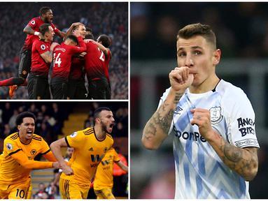 Berikut ini ragam selebrasi terbaik di Premier League pekan ke-18. Diantaranya selebrasi Fabinho dan Nemanja Matic.(Foto Kolase AP dan AFP)