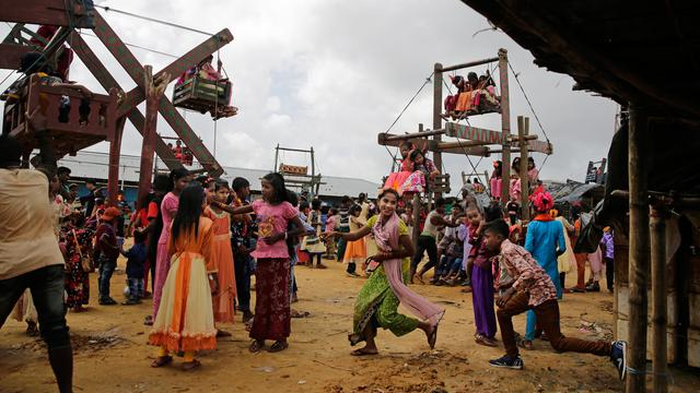 Anak Rohingya Rayakan Idul Adha di Pengungsian