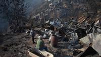 Kebakaran yang menimpa Chile di malam Natal. (Source: AFP/ Pablo Rojas Maradiaga)