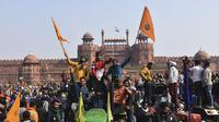 Demonstrasi petani di India (AP Photo / Dinesh Joshi)