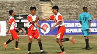 Aksi para pemain SSB Bhayangkara yang mewakili provinsi Banten di Liga Pelajar U-14 Piala Menpora (dok: Kemenpora)
