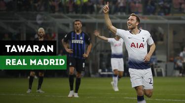 Berita video tawaran Real Madrid untuk gelandang Tottenham Hotspur, Christian Eriksen.