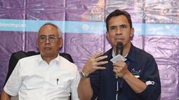 General Manager PT. PJA, Sunarto (kanan) saat jumpa pers Ancol Gempita Festival : Pesona Indonesiaku di kawasan Ancol, Jakarta, Rabu (27/12). (Liputan6.com/Herman Zakharia)