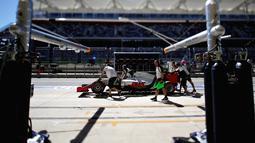 Haas F1 team menempati urutan ke-8 klasemen sementara konstruktor Formula One dengan total poin 29. (Mark Thompson/Getty Images/AFP)