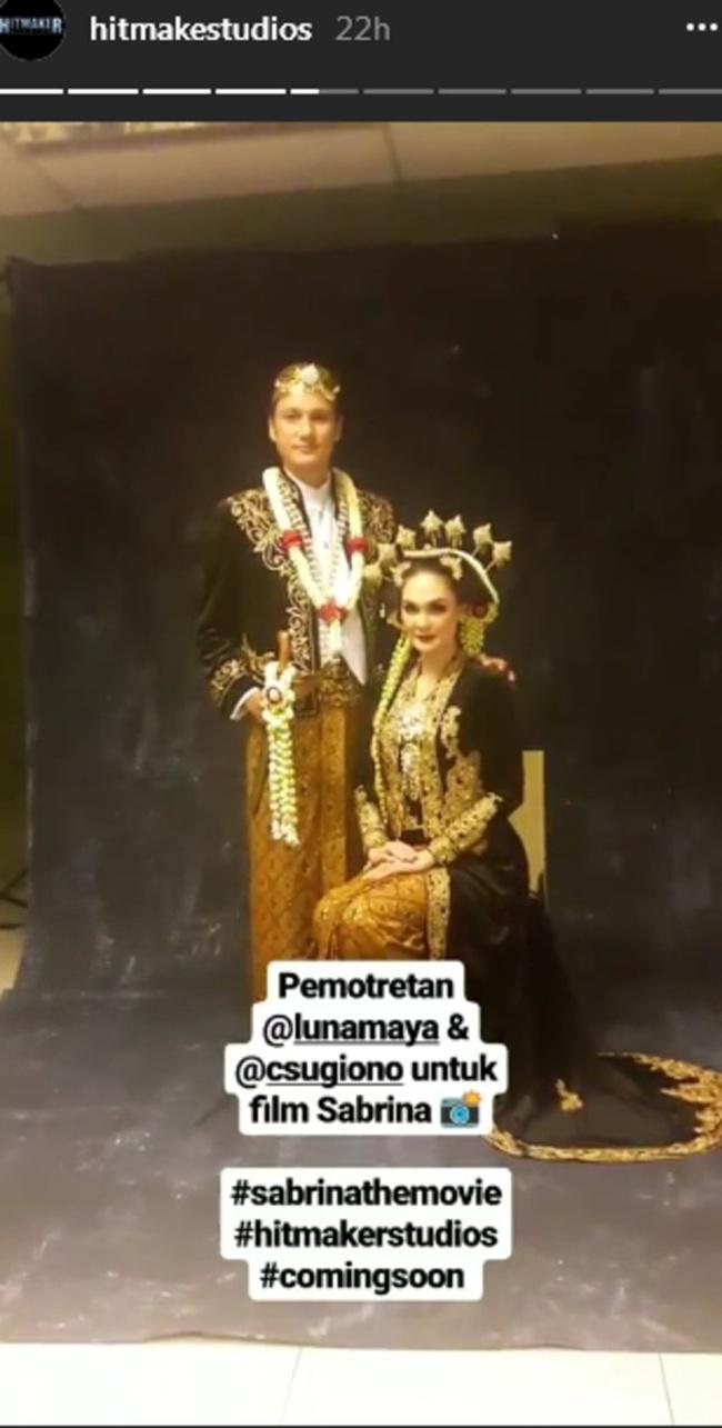 Luna pakai baju pengantin buat film copyright instagram/hitmakestudios