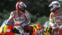 Rivalitas Wayne Rainey & Kevin Schwantz merupakan salah satu persaingan terpanas di ajang balap motor dunia. (Gpone)