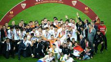 Sevilla berhasil menjuarai European League tahun 2014, di Juventus Stadium, Itali, Jumat (24/4/2015). (AFP)