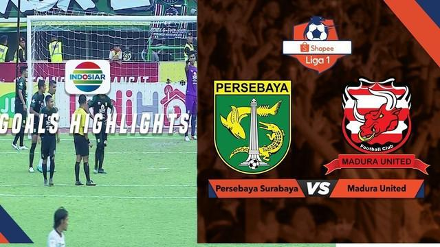Berita video gol-gol yang tercipta pada laga Persebaya Surabaya melawan Madura United dalam lanjutan Shopee Liga 1 2019 di Stadion Gelora Bung Tomo, Surabaya, Sabtu (10/8/2019).