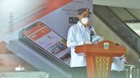 Menhub  Budi Karya Sumadi meresmikan Sistem Tiket Secara Elektronik Online Jaketbus di Terminal Terpadu A Pulo Gebang (dok: Humas)